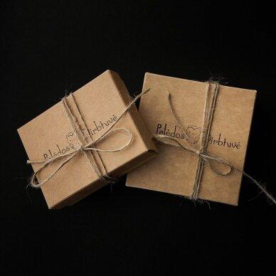"Sidabriniai auskarai su grandinėlėmis ""Green Queen"" (8mm) 3"