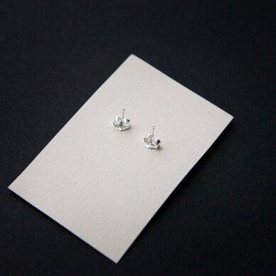 """Sidabriniai auskarai """"White Queen"""" (10mm) 3"""