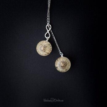 """Vėrinys """"iki mėnulio..."""" (sidabras, 74cm)"""