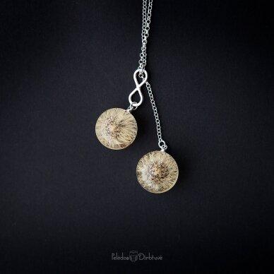 """Vėrinys """"iki mėnulio..."""" (sidabras, 74cm) 2"""