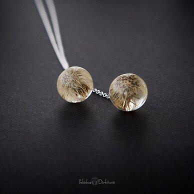 """Vėrinys """"iki mėnulio..."""" (sidabras, 74cm) 3"""