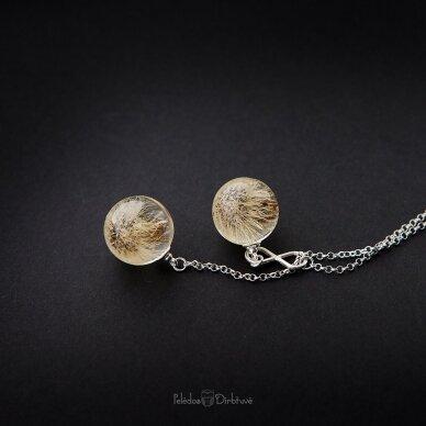 """Vėrinys """"iki mėnulio..."""" (sidabras, 74cm) 4"""