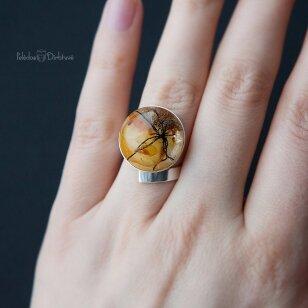 "Žiedas ""Baltijos Auksas"" (Kompozicija 18mm)"