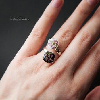 """Žiedas su dviguba kompozicija """"Šilinis Viržis"""""""