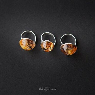 "Žiedas ""Baltijos Auksas"" (Kompozicija 18mm) 4"
