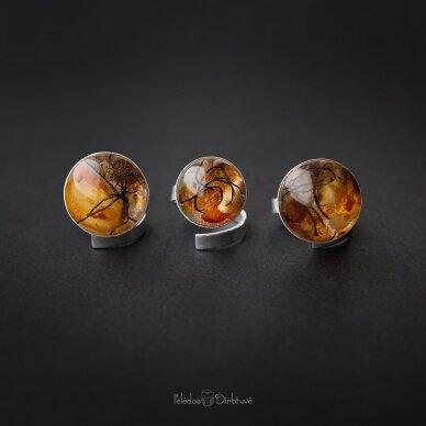 "Žiedas ""Baltijos Auksas"" (Kompozicija 18mm) 3"