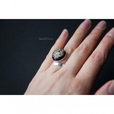 """Žiedas """"Blue Queen"""" (išgaubta kompozicija) 2"""